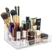 sorbus acrylic cosmetics makeup and jewelry storage case display top glamorous space saving