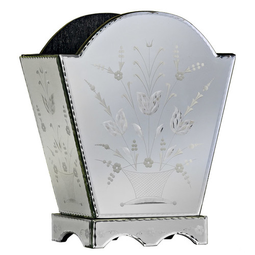 Venetian Gems Venetian Mirror Magazine Holder