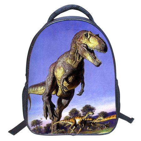 ELEOPTION 2018 Kids School Backpack 3D Cartoon Print Dinosaur Drawing Schoolbag Children Book Bag for Boys Girls
