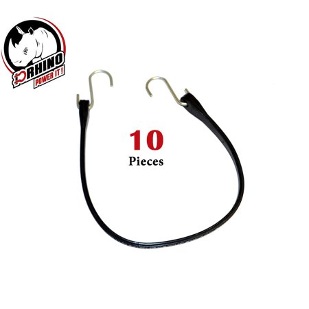 "(10) D-Rhino Heavy Duty 21"" Rubber Bungee Cords Tarp Tie Down Strap"