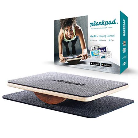 Plankpad - Balance Board & Bodyweight Fitness Trainer with Training App for iOS & Android - Interactive Plank Abs Trainer in Maple Wood & Walnut - as seen on German Shark (Best Chess Training App Android)