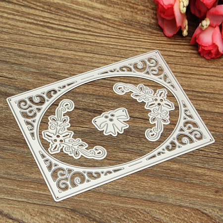 4Pcs Hollow Frame Scrapbooking Dies Stencials Cutting Paper Photo Album Craft
