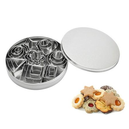 24 Pcs Stainless Steel Cake Biscuit Cookie Cutter Mold DIY Baking Pastry Tool - Halloween Cookies Diy