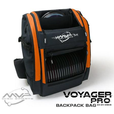 Mvp Disc Sports Voyager Pro Backpack Disc Golf Bag Orange