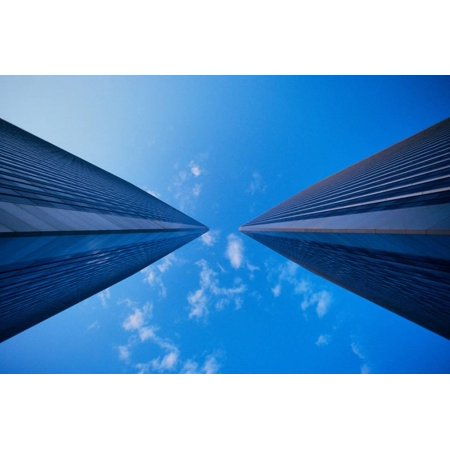 Worm's eye view of the Century City Towers in Los Angeles, California Print Wall