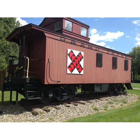 Framed Art for Your Wall Caboose Transportation Train Car Train 10x13 Frame
