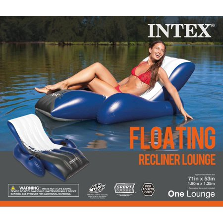 Intex Inflatable Floating Comfortable Recliner Lounges with Cup Holders (3 Pack) - image 5 of 6