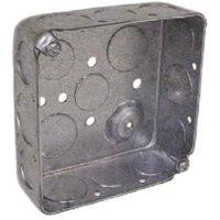 "4"" x 1-1/2"" Deep; Steel Drawn Corners Square Box 4PK"