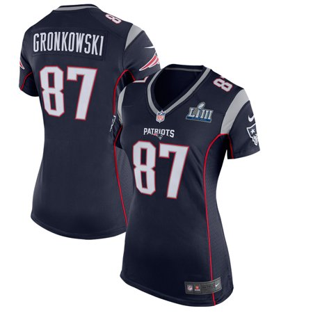 9cf3f1a8e Rob Gronkowski New England Patriots Nike Women s Super Bowl LIII Bound Game  Jersey - Navy - Walmart.com
