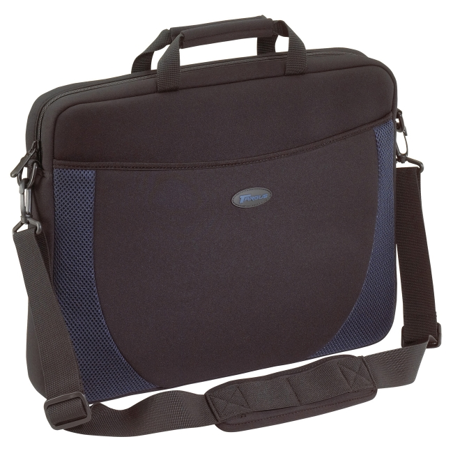 "Targus 17"" Laptop Computer Slip Case, Black/Blue"