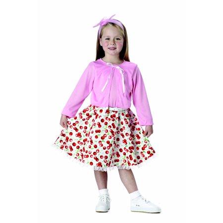 50s Sweetheart Toddler Costume - Girls 50s Costume