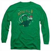 Astro Pop-Astro Boy - Long Sleeve Adult 18-1 Tee, Kelly Green - Small