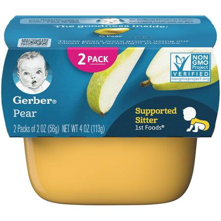Gerber 1st Foods Pear Baby Food, 4 oz. (Pack of 8) ()