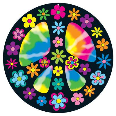 CD-188034 - Peace Sign Two Sided Decoration by Carson Dellosa (Peace Decorations)