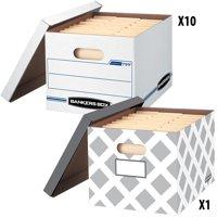 "10+1 Bonus Count Bankers Box Storage Boxes 12"" x 10"" x 15"""