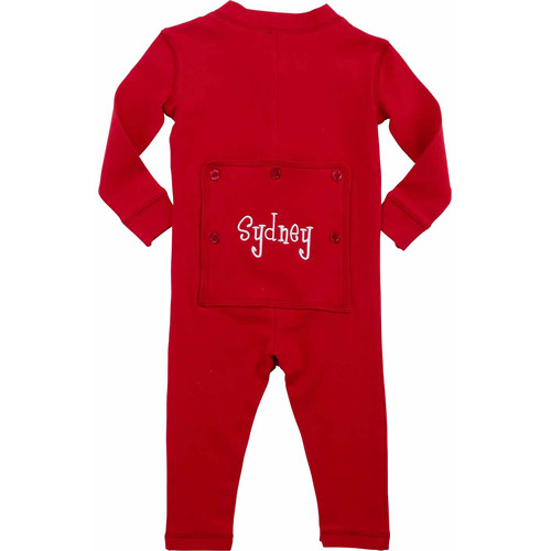 Personalized Toddler Name Long John, Red
