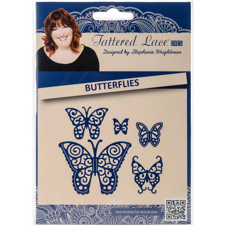 Create and Craft Tattered Lace Metal Die-Butterflies