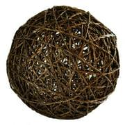 Decorative Ball in Brown (4 in. Dia.)