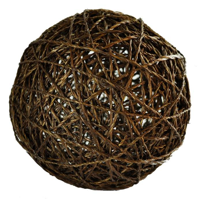 Decorative Ball in Brown (4 in. Dia.)
