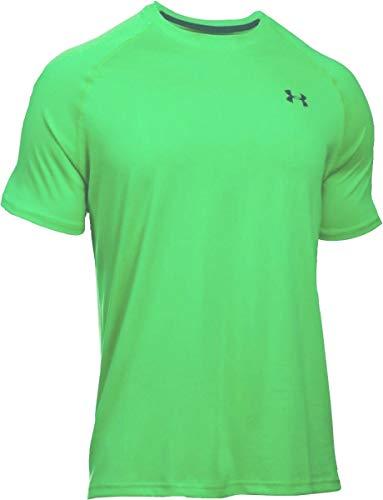 Under Armour Heat Gear Loose Training Top Green Shirt Fitted Mens Size Large