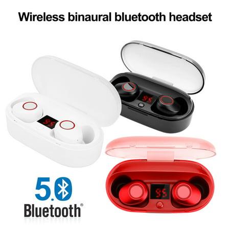 AGPtek Mini Bluetooth 5.0 Earbuds Sport True Wireless Headphones Bass Twins Stereo In-Ear Earphone for Android iPhone Bass Lover Earbuds