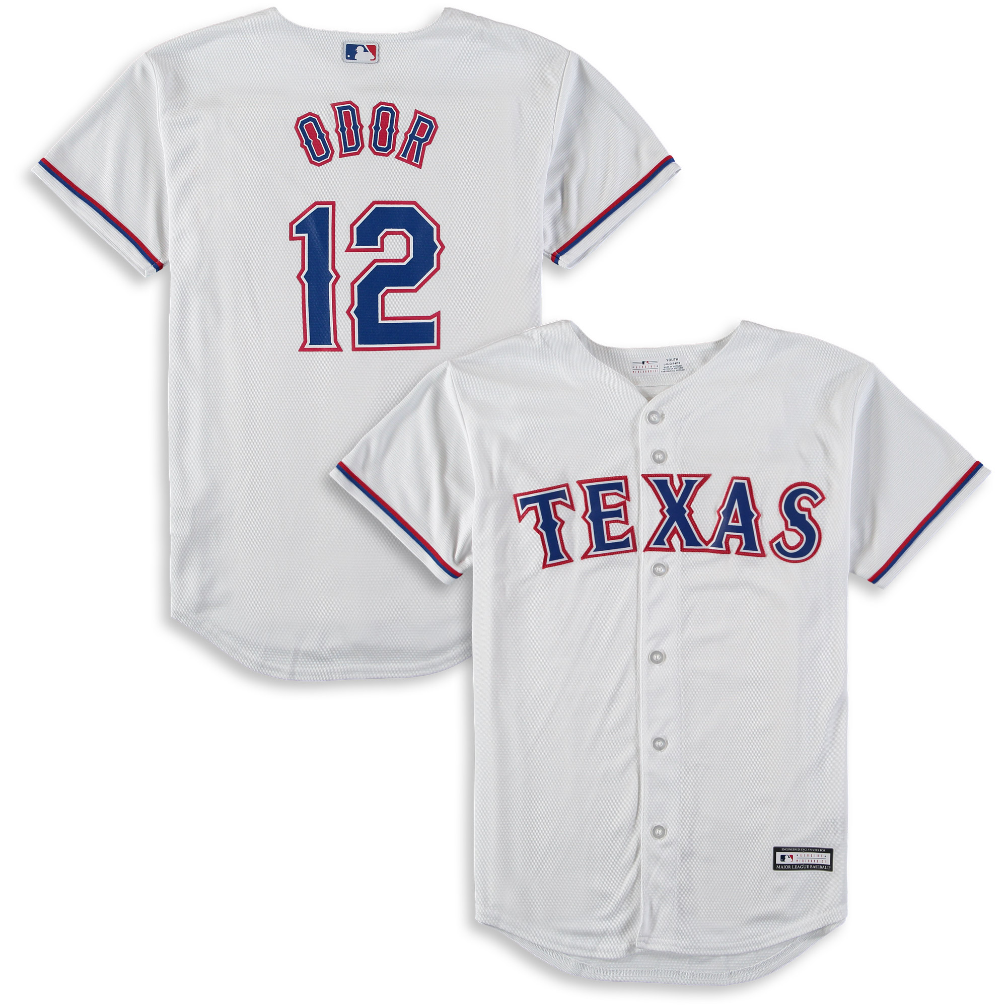 Rougned Odor Texas Rangers Majestic Youth Home Cool Base Replica Player Jersey - White