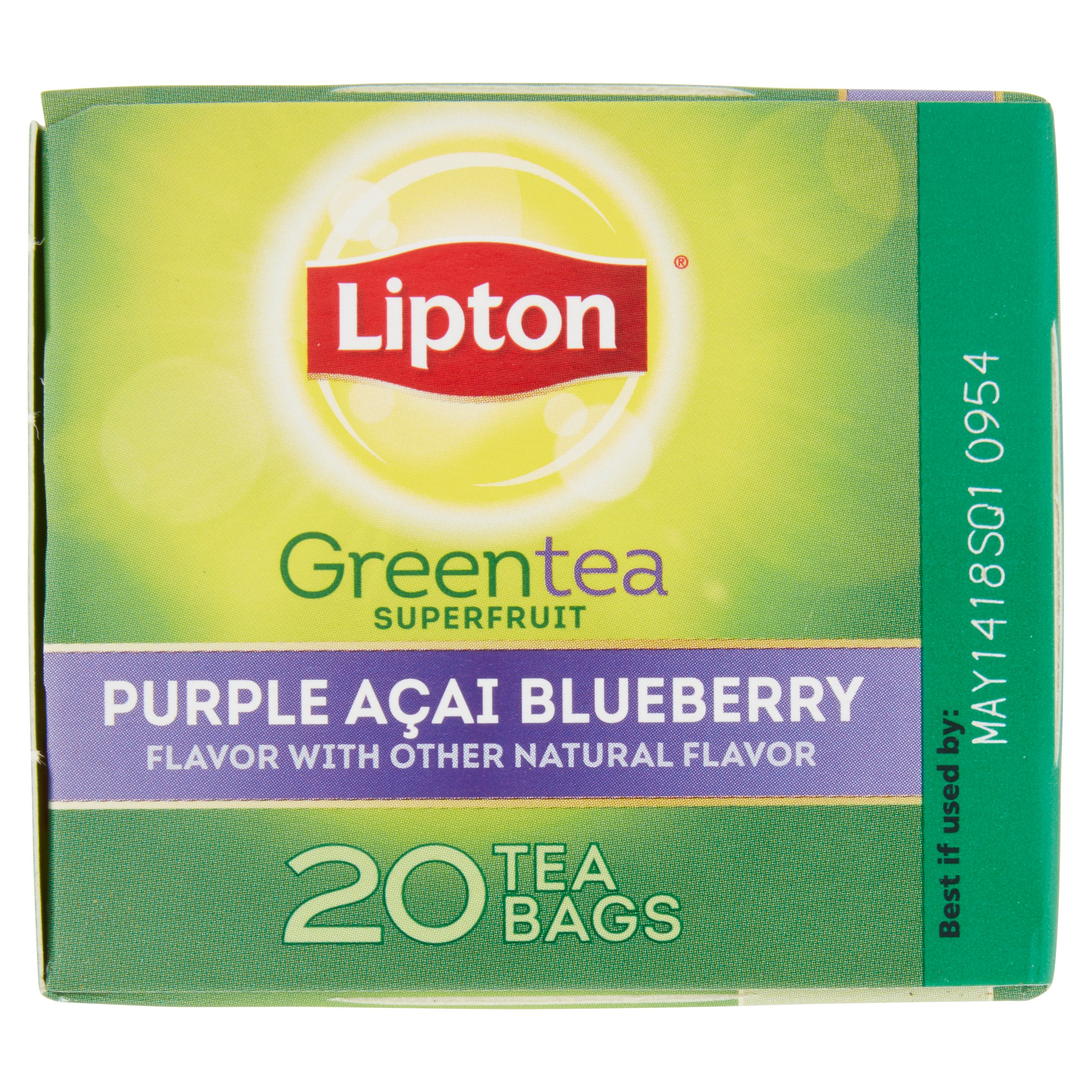 Lipton Green Tea Bags Purple Acai Blueberry 20 Ct Com