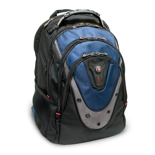 "SwissGear IBEX GA-7316-06F00 Carrying Case (Backpack) for 17"" Notebook - Blue - Polyester, Nylon"