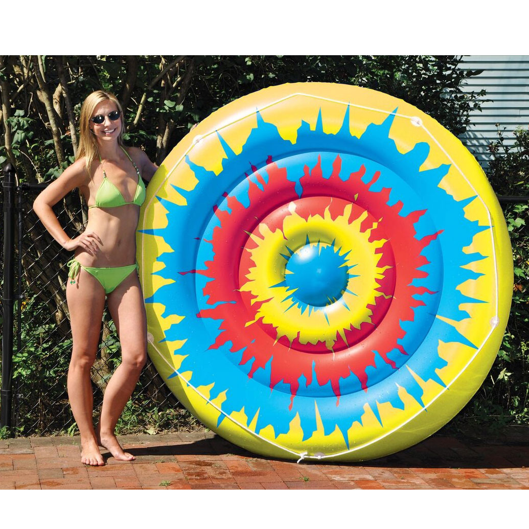 "Swimline 90502 Swimming Pool Tie Dye Giant Inflatable 65"" Island Pool Toy Float by Swimline"