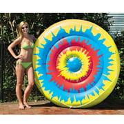 "Swimline 90502 Swimming Pool Tie Dye Giant Inflatable 65"" Island Pool Toy Float"