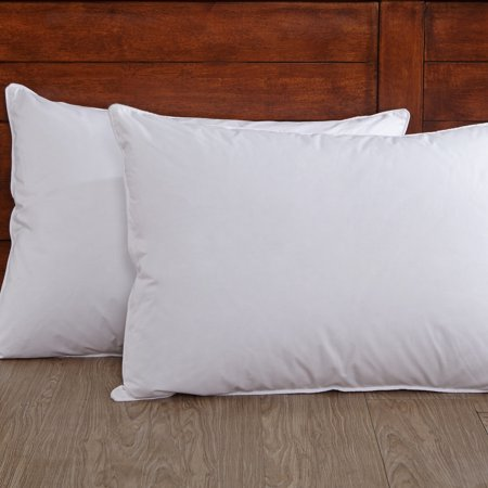 Puredown 50% Down and 50% Feather Pillow, White, Set of 2, Standard/Queen Size 50% Down 50% Feather