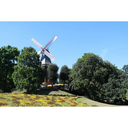 Canvas Print Bremen Cafe Windmill On Wall City Windmill Stretched Canvas 10 x 14 (Wind City Sole)