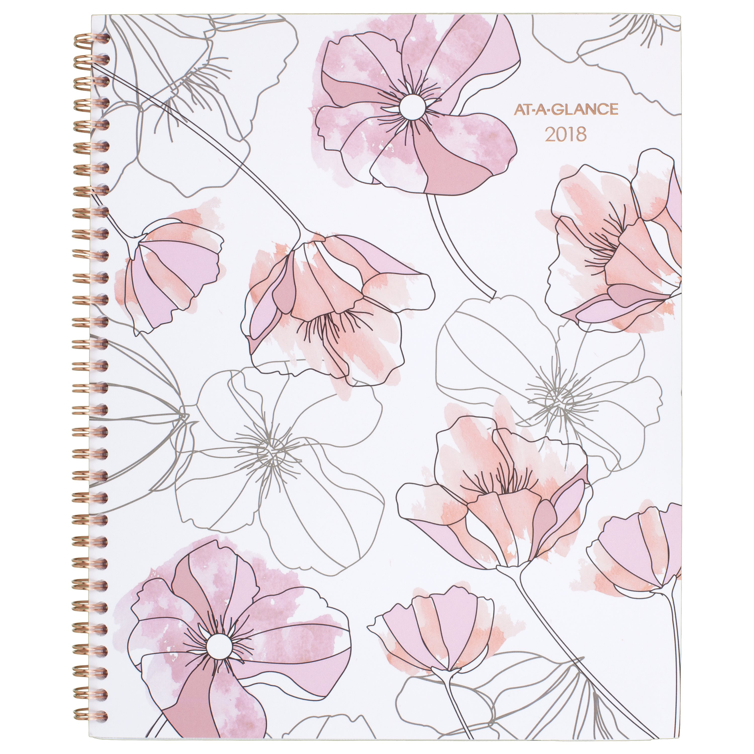 """2018 AT-A-GLANCE Blush Monthly Planner, 12 Months, January Start, 8 1 2"""" x 11\ by ACCO BRANDS"""