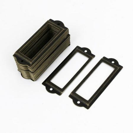 Tiroirs bureau Porte-étiquette tirer ton bronze Frame 83mmx30mm 50pcs - image 2 de 2