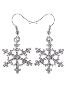 e2b2e90436f Product Image Christmas Winter Snow Snowflake Ice Cold Crystal Rhinestone  Dangle Drop Earrings