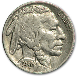 1937 Buffalo Nickel Good+