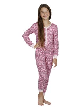Prestigez Family Mom and Daughter Cotton Women's Onesie Union Suit and Girls Pajamas, Black Moose, Size: XL