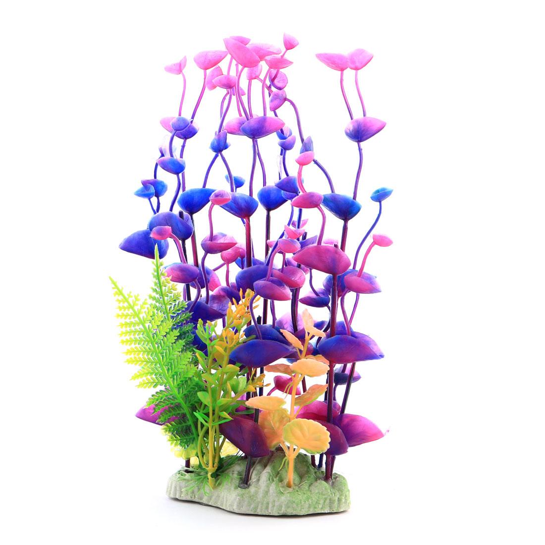 Unique BargainsFish Tank Aquarium Plastic Simulated Plant Grass Decoration Landspace Colorful