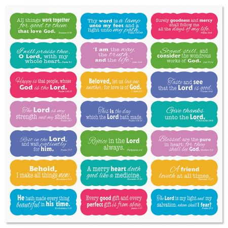 Scripture Stickers- Set of 42 Stickers, 1