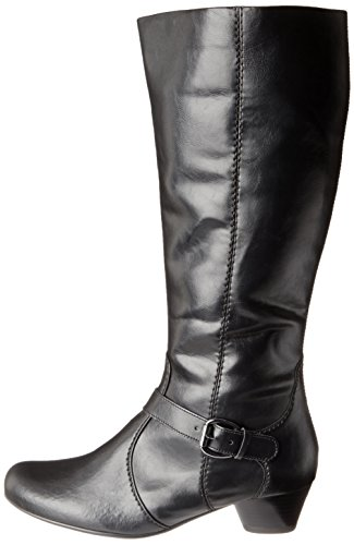 ara Women's Casey Knee-High Boot,Black Leather,6 M US