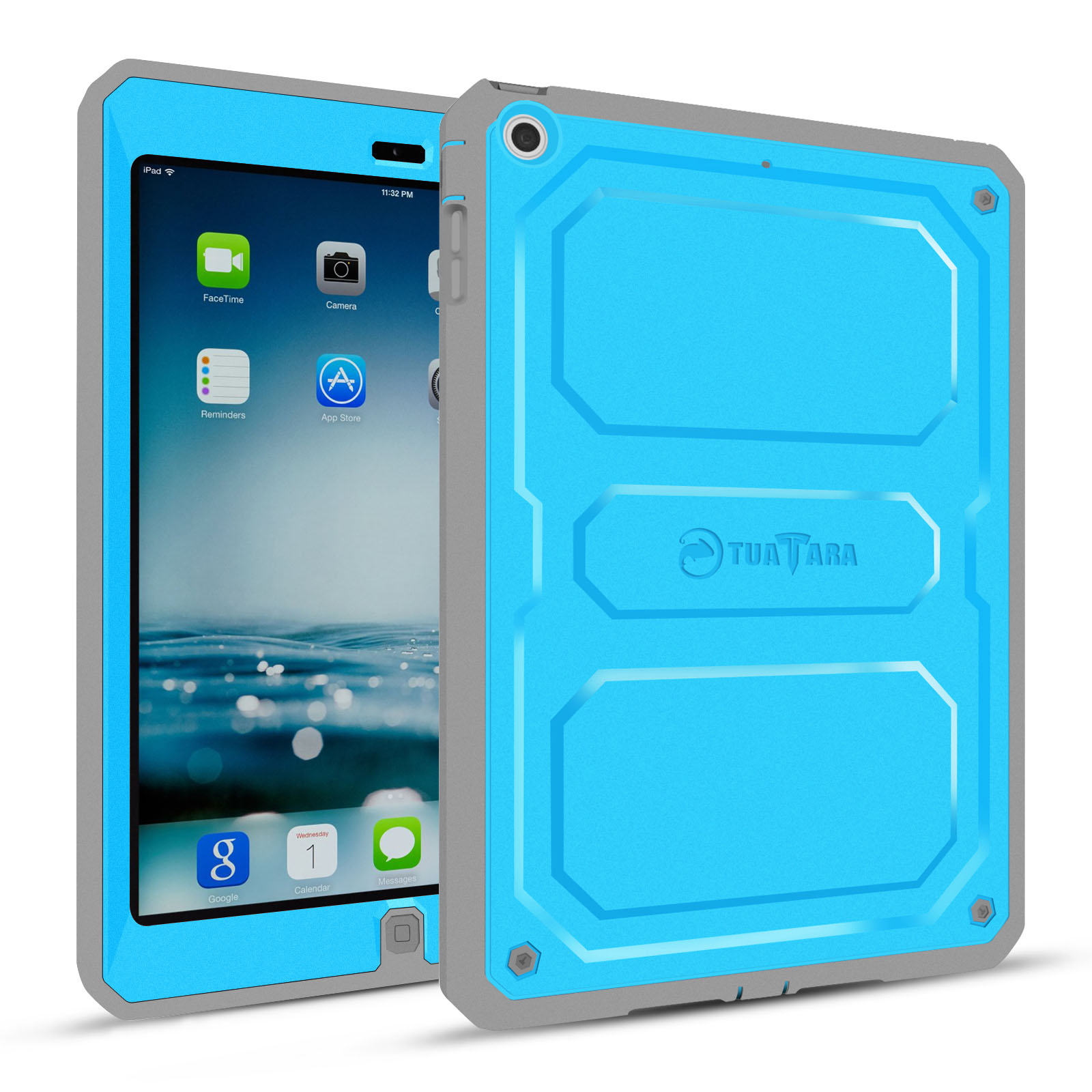 Fintie Apple iPad Air Case - Dual Layer Full Protective with Built-in Screen Protector and Impact Resistant Bumper, Blue
