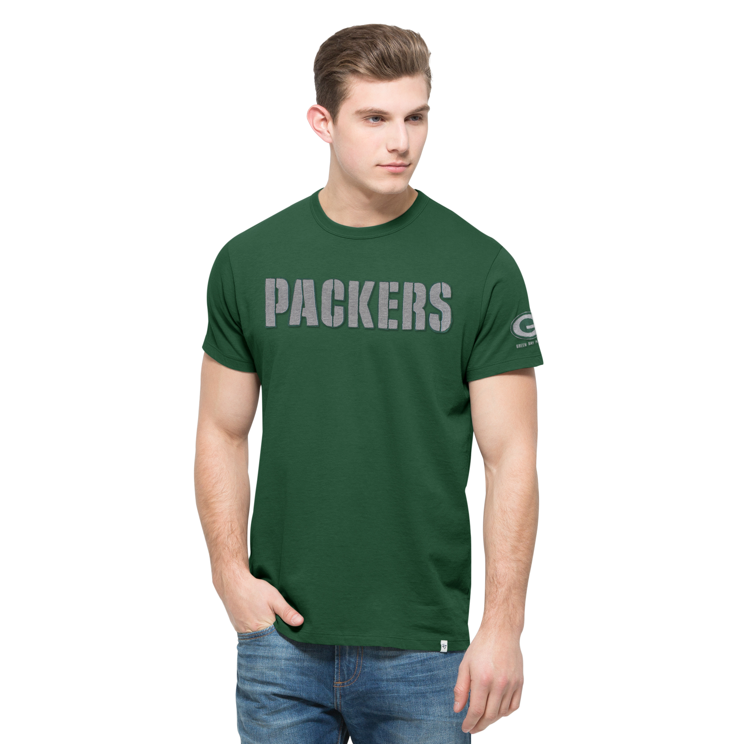 Green Bay Packers Fieldhouse Men's Basic Pine Tee
