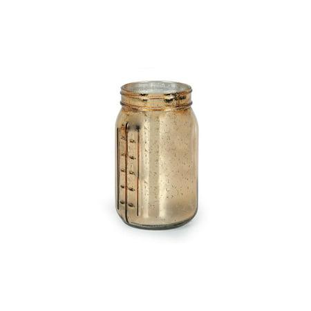 Mason Jar Decorations: Gold Mercury Glass Mason Jar
