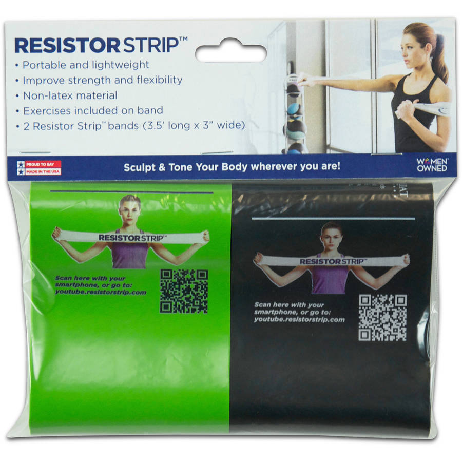 Alliance Non-Latex Resistor Strips Exercise Bands, 2 Pack