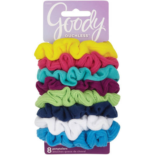 Goody Ouchless Neon Lights Gentle Scrunchies, 8 count
