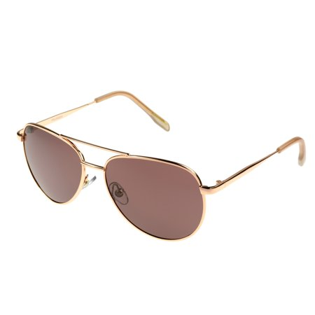 Foster Grant Women's Rose Gold Aviator Sunglasses (Aviator Cockpit Sunglasses)