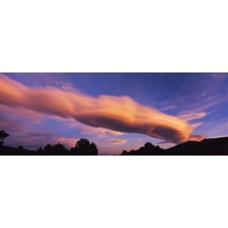 Cumulus clouds in the sky at dusk Paso Robles San Luis Obispo County California USA Canvas Art - Panoramic Images (36 x 13)