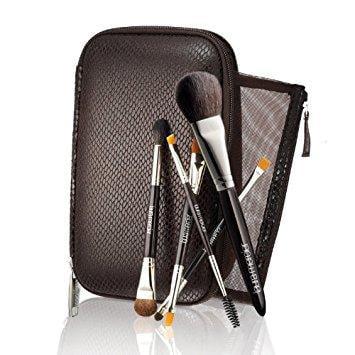"Laura Mercier Deluxe 5 pieceTravel Brush Set plus Brush Case8.25""x5""x1.5""Unboxed"