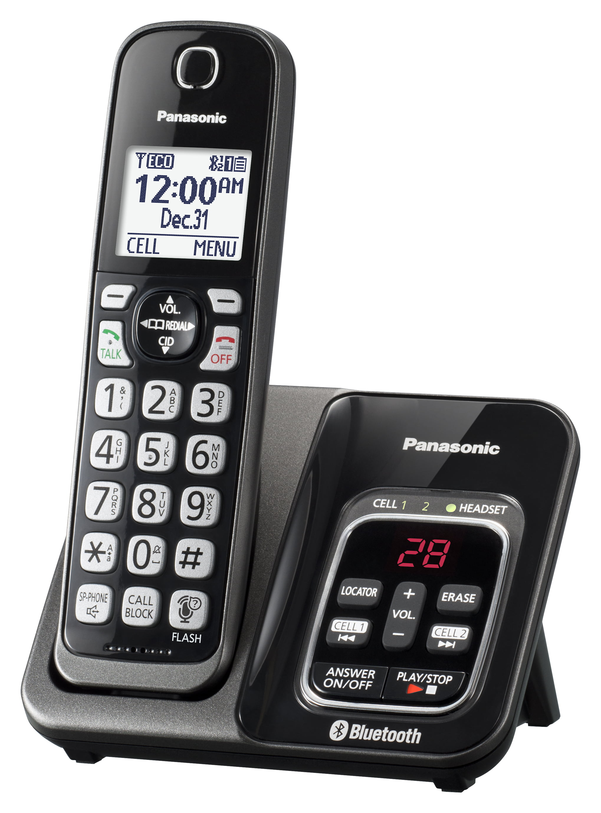 Panasonic KX-TG3760 Link2Cell Cordless Phone with Answer ...