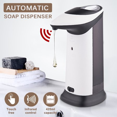 Large Dispensers (Automatic Soap Dispenser 420ml Large Capacity IR Sensor Touchless Soap Dispenser with Music Sound Function for Kitchen Bathroom,)